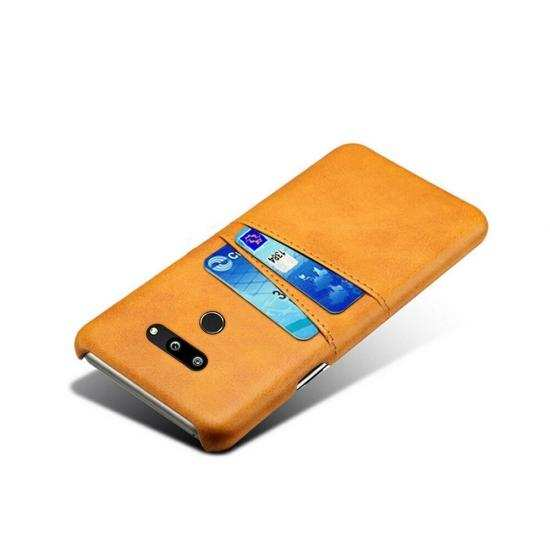 best price For LG G8 ThinQ Shockproof PU Leather Case Card Slot Back Cover