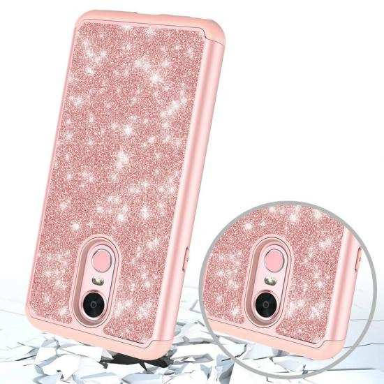 cheap For LG Stylo 5 / 5 Plus Case Glitter Hybrid Armor Shockproof Phone Cover