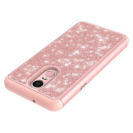 top quality For LG Stylo 5 / 5 Plus Case Glitter Hybrid Armor Shockproof Phone Cover