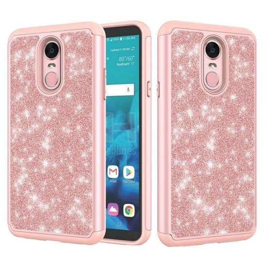 discount For LG Stylo 5 / 5 Plus Case Glitter Hybrid Armor Shockproof Phone Cover