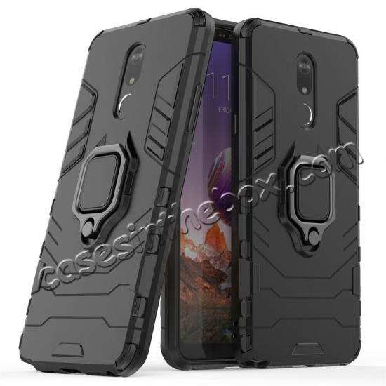 wholesale For LG Stylo 5/5 Plus Shockproof Armor Hybrid Ring Stand Rubber TPU Case Cover