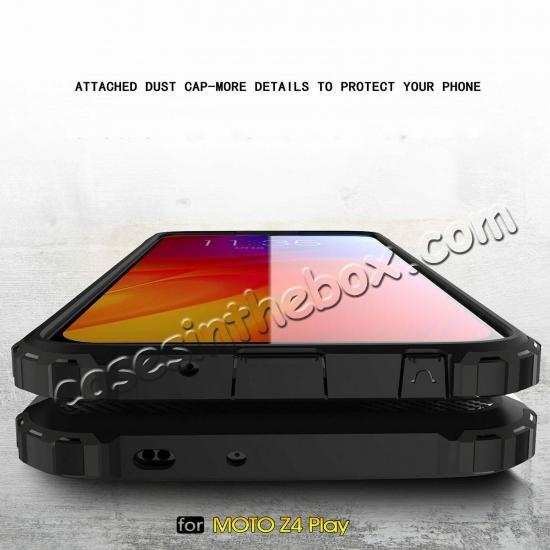 best price For Motorola Moto Z4 Shockproof Tough Hybrid Armor Protective Case Cover