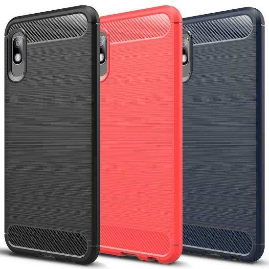 wholesale For Samsung Galaxy A11 A71 5G UW Note 20 Ultra A51 A21 Phone Case Shockproof Carbon Fiber TPU Cover