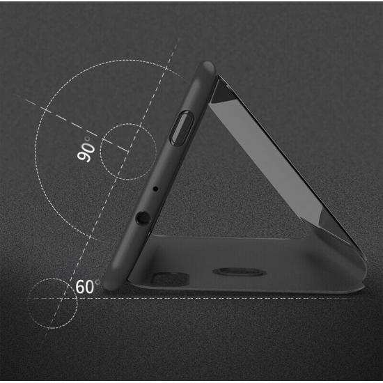 cheap For Samsung Galaxy A10e Case Smart View Mirror Leather Flip Stand Cover