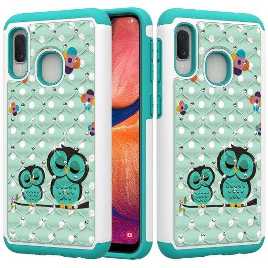 wholesale For Samsung Galaxy A10e Shockproof Bling Diamond Armor Case Cover