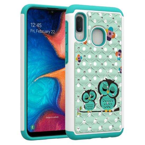 discount For Samsung Galaxy A10e Shockproof Bling Diamond Armor Case Cover