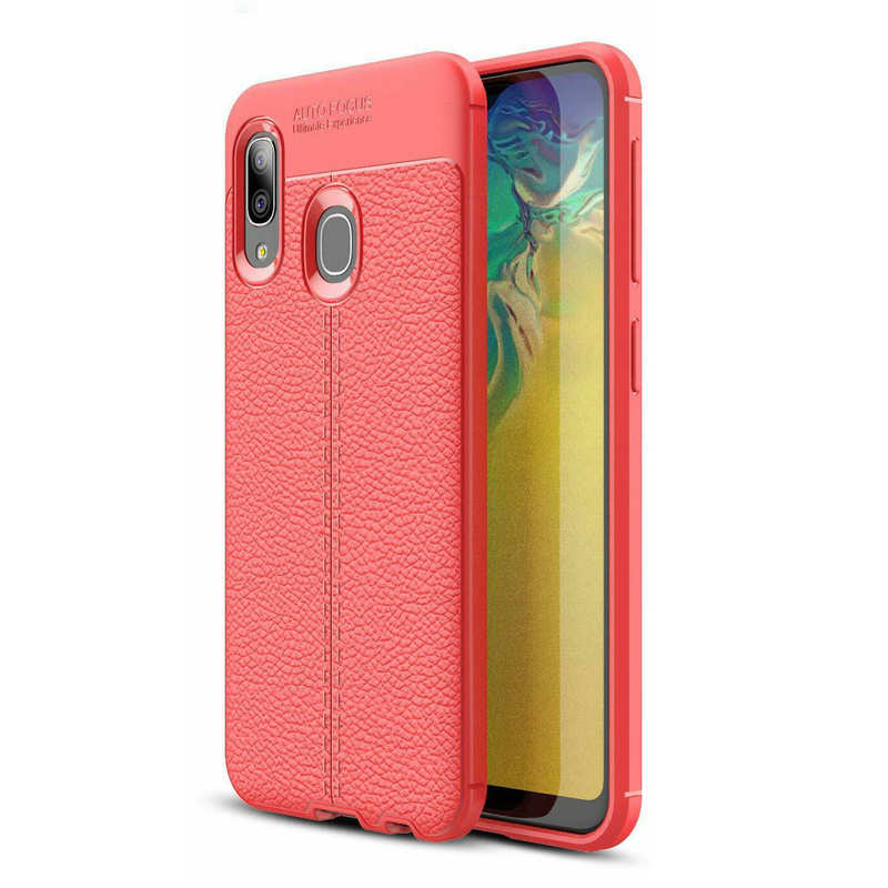 discount For Samsung Galaxy A10e - Shockproof Case Tpu Soft Leather Cover