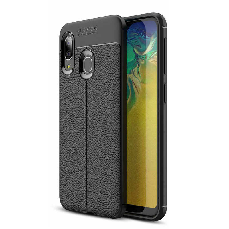 cheap For Samsung Galaxy A10e - Shockproof Case Tpu Soft Leather Cover