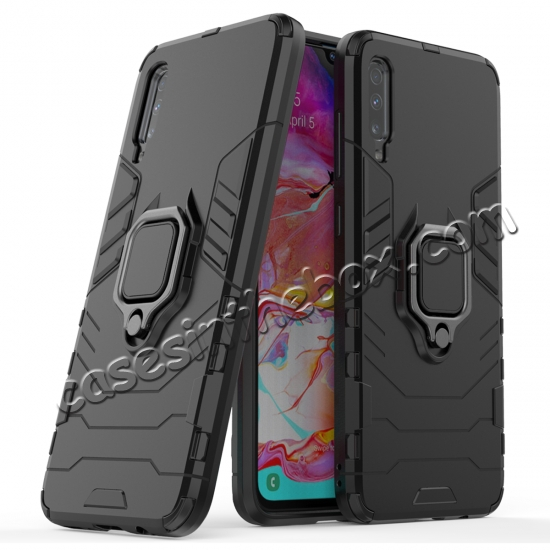 discount For Samsung Galaxy A50 Magnetic Stand Ring Holder Armor Case Cover