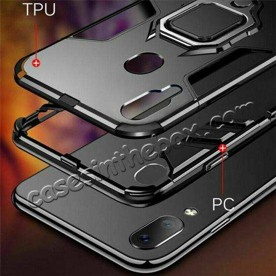 best price For Samsung Galaxy A50 Magnetic Stand Ring Holder Armor Case Cover
