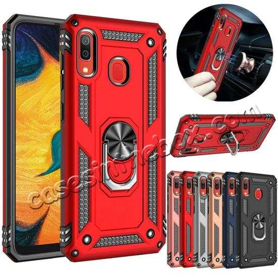For Samsung Galaxy A50 Shockproof Armor Stand Case Cover
