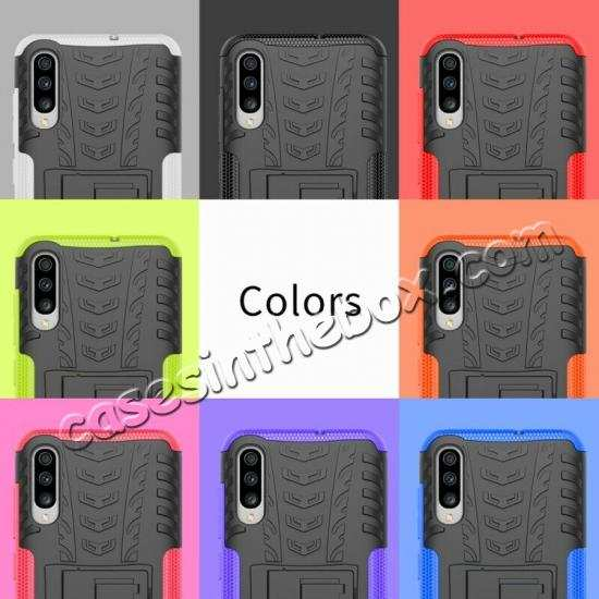 cheap For Samsung Galaxy A50 Shockproof Hybrid Armor Stand Back Case Cover