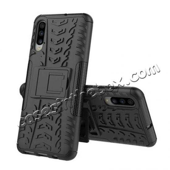 best price For Samsung Galaxy A50 Shockproof Hybrid Armor Stand Back Case Cover