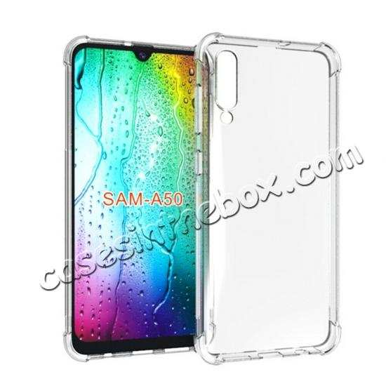 wholesale For Samsung Galaxy A50 Shockproof Rubber Clear Slim Soft Shell Case Cover