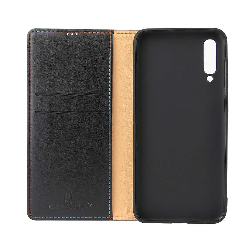 discount For Samsung Galaxy A50 Vintage Magnetic Leather Case - Black
