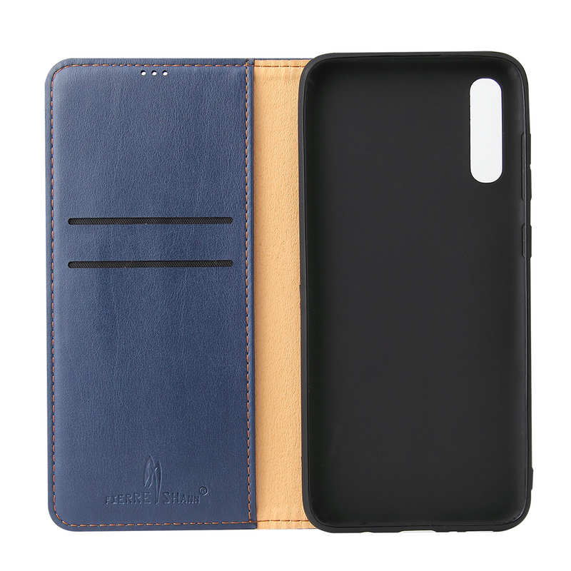 discount For Samsung Galaxy A70 Stand Flip Leather Case - Blue