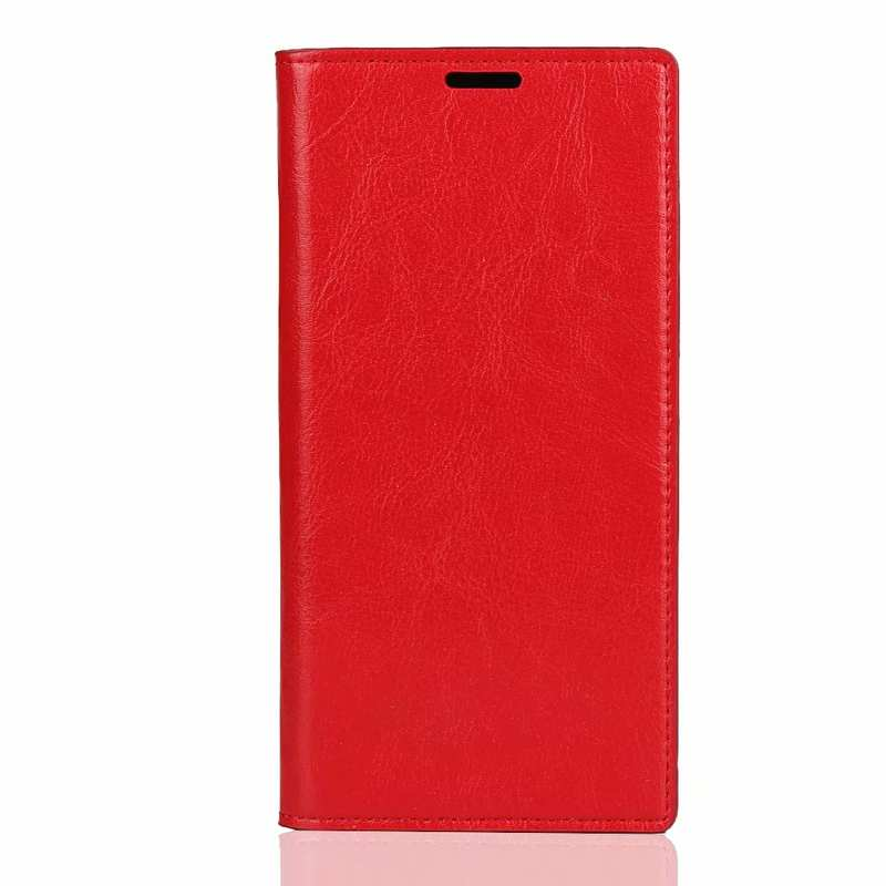 discount For Samsung Galaxy Note 10 Pro Crazy Horse Genuine Leather Wallet Case - Red