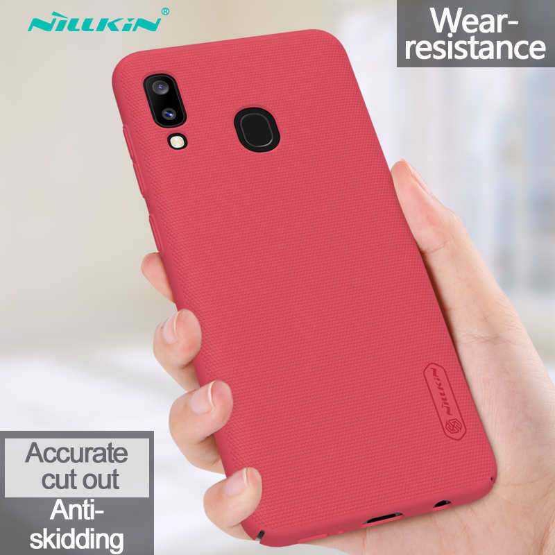 low price NILLKIN For Samsung Galaxy A20 Case Shockproof Slim Hard Back Shell Cover