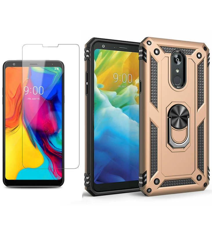 wholesale For LG Stylo 5 / 5 Plus Phone Case Shockproof Hybrid Cover With Screen Protector - Gold