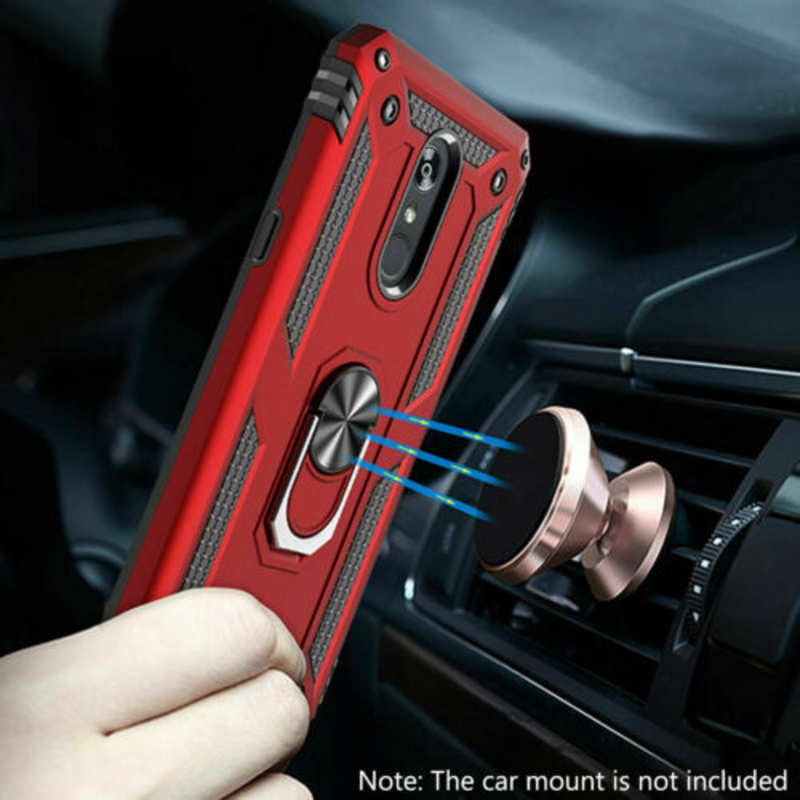 top quality For LG Stylo 5 / 5 Plus Phone Case Shockproof Hybrid Cover With Screen Protector - Red