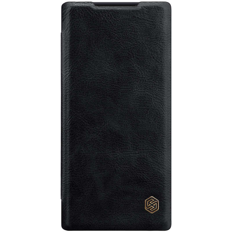 top quality For Samsung Galaxy Note 10+ Nillkin Qin Leather Card Slot Flip Case Cover - Black