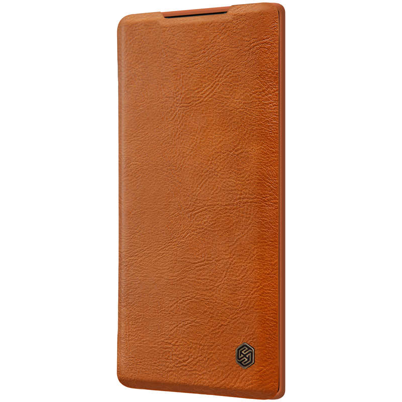 best price For Samsung Galaxy Note 10 Genuine Nillkin Qin Leather Card Slot Flip Case Cover - Brown