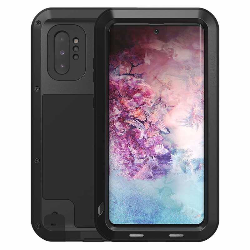 wholesale For Samsung Galaxy Note 10+ Plus LOVE MEI Powerful Aluminum Shockproof Armor Case - Black