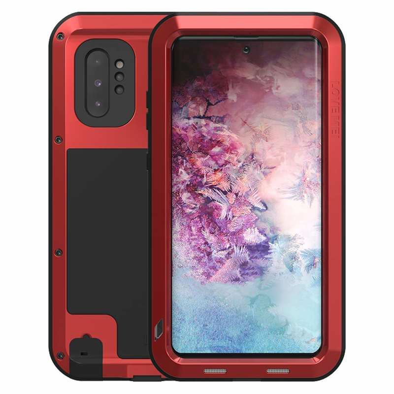 wholesale For Samsung Galaxy Note 10+ Plus LOVE MEI Powerful Aluminum Shockproof Armor Case - Red