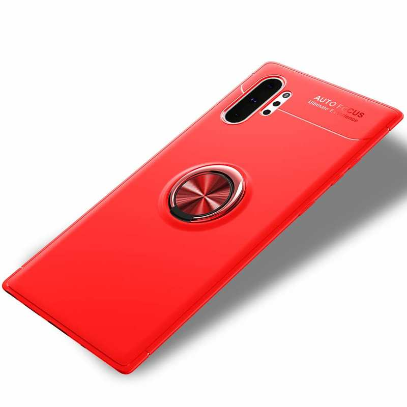 discount For Samsung Galaxy Note 10 Plus Magnetic Finger Ring Holder Case - Red