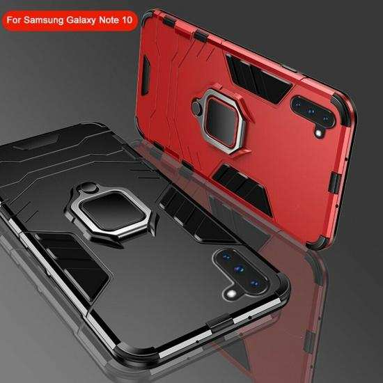 discount For Samsung Galaxy Note 10 Plus Shockproof Hybrid Magnetic Ring Stand Case Cover