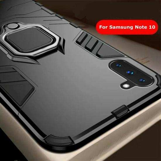 top quality For Samsung Galaxy Note 10 Plus Shockproof Hybrid Magnetic Ring Stand Case Cover
