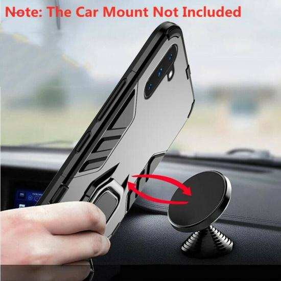 best price For Samsung Galaxy Note 10 Plus Shockproof Hybrid Magnetic Ring Stand Case Cover