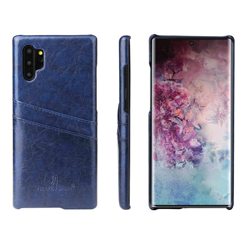 wholesale For Samsung Galaxy Note 10 Pro Oil Wax Leather Back Case Cover - Dark Blue