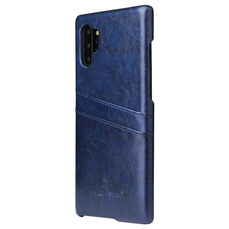 cheap For Samsung Galaxy Note 10 Pro Oil Wax Leather Back Case Cover - Dark Blue