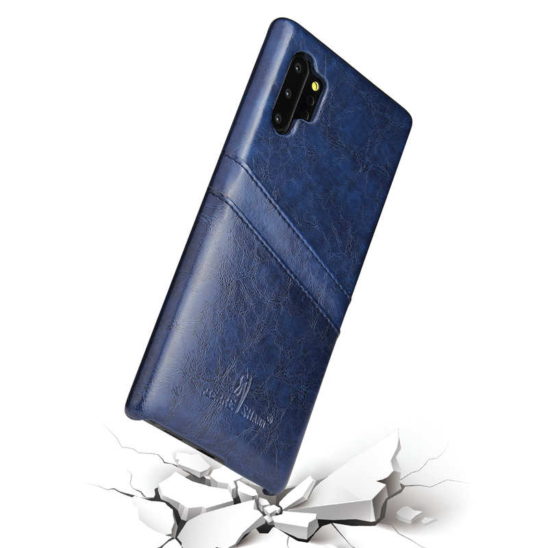 best price For Samsung Galaxy Note 10 Pro Oil Wax Leather Back Case Cover - Dark Blue