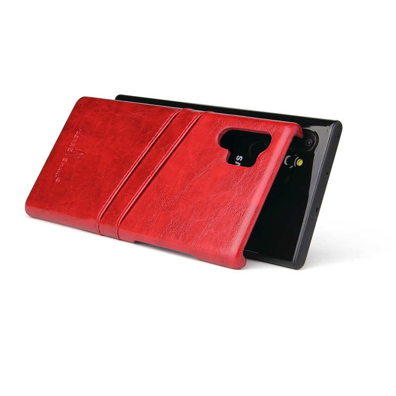 top quality For Samsung Galaxy Note 10 Pro Oil Wax Leather Back Case Cover - Red