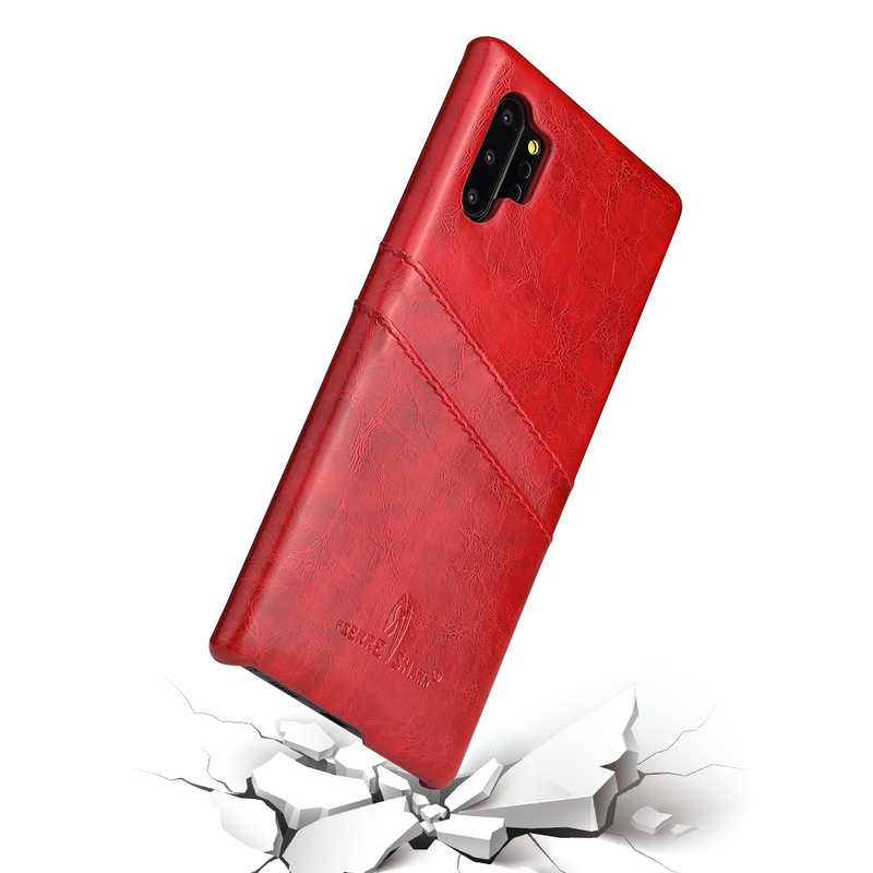 best price For Samsung Galaxy Note 10 Pro Oil Wax Leather Back Case Cover - Red