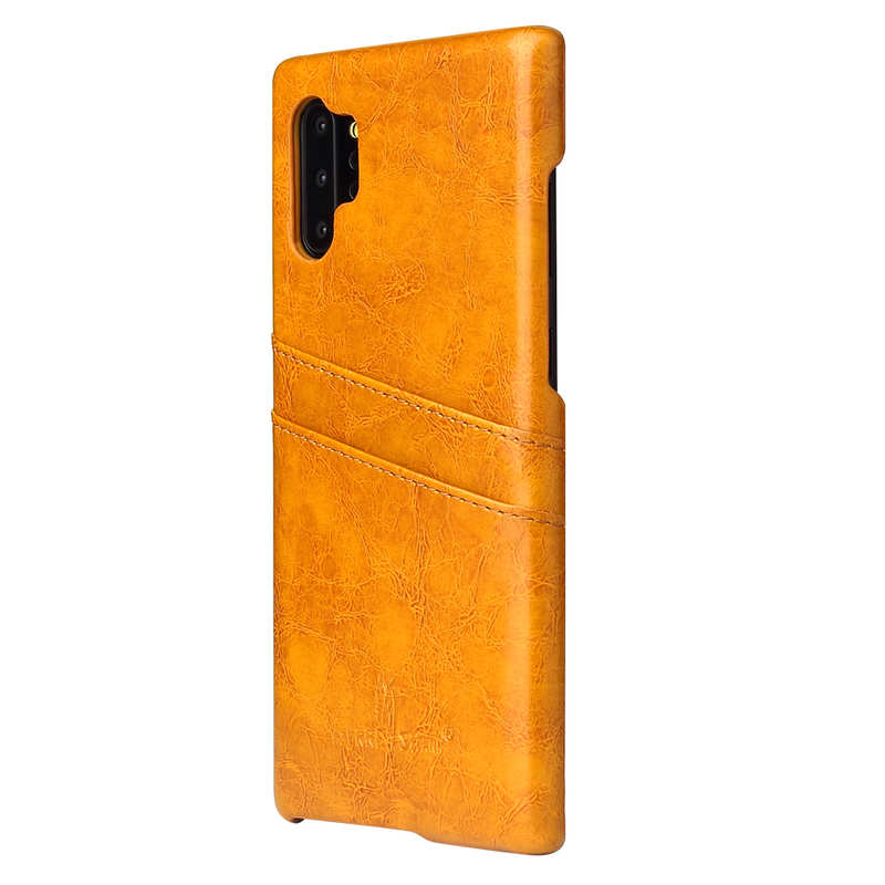 cheap For Samsung Galaxy Note 10 Pro Oil Wax Leather Back Case Cover - Yellow