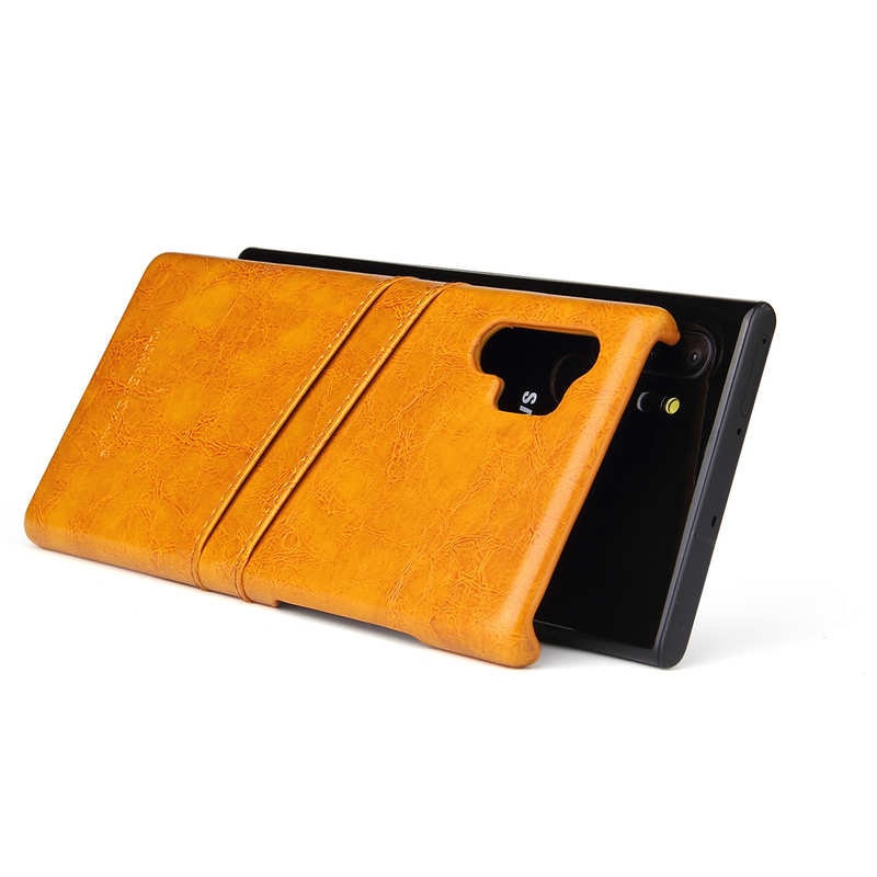 top quality For Samsung Galaxy Note 10 Pro Oil Wax Leather Back Case Cover - Yellow