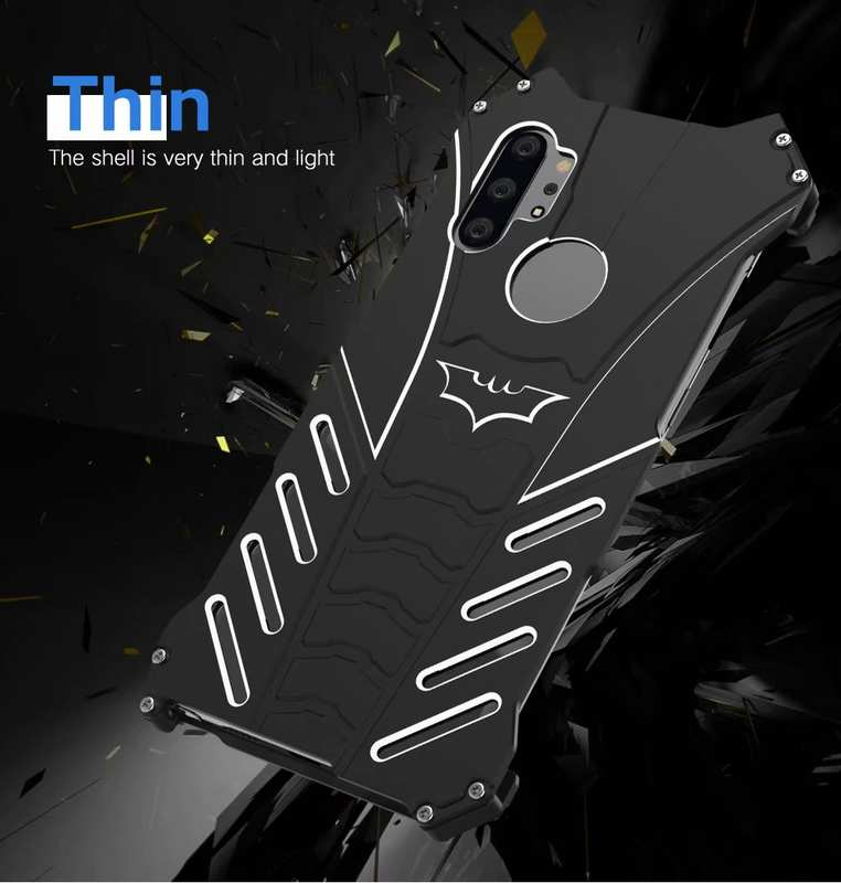 top quality For Samsung Galaxy Note 10 Shockproof Metal Case Cover - Black