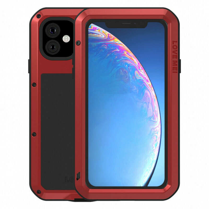 wholesale Waterproof Shockproof Metal Aluminum Gorilla Case for  iPhone 11 / 11 Pro Max - Red
