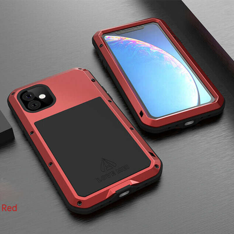 cheap Waterproof Shockproof Metal Aluminum Gorilla Case for  iPhone 11 / 11 Pro Max - Red