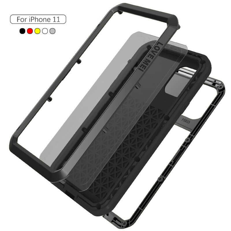 discount Waterproof Shockproof Metal Aluminum Gorilla Case for  iPhone 11 / 11 Pro Max - Black