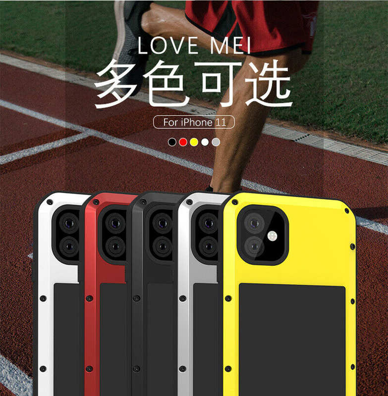 top quality Waterproof Shockproof Metal Aluminum Gorilla Case for  iPhone 11 / 11 Pro Max - Red
