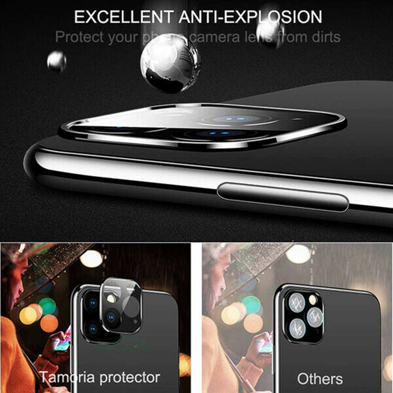 top quality Camera Lens Protector For iPhone 11 Pro Max Tempered Glass Metal Full Cover - Silver