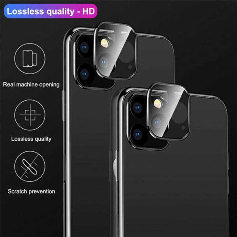 on sale Camera Lens Protector For iPhone 11 Pro Max Tempered Glass Metal Full Cover - Silver