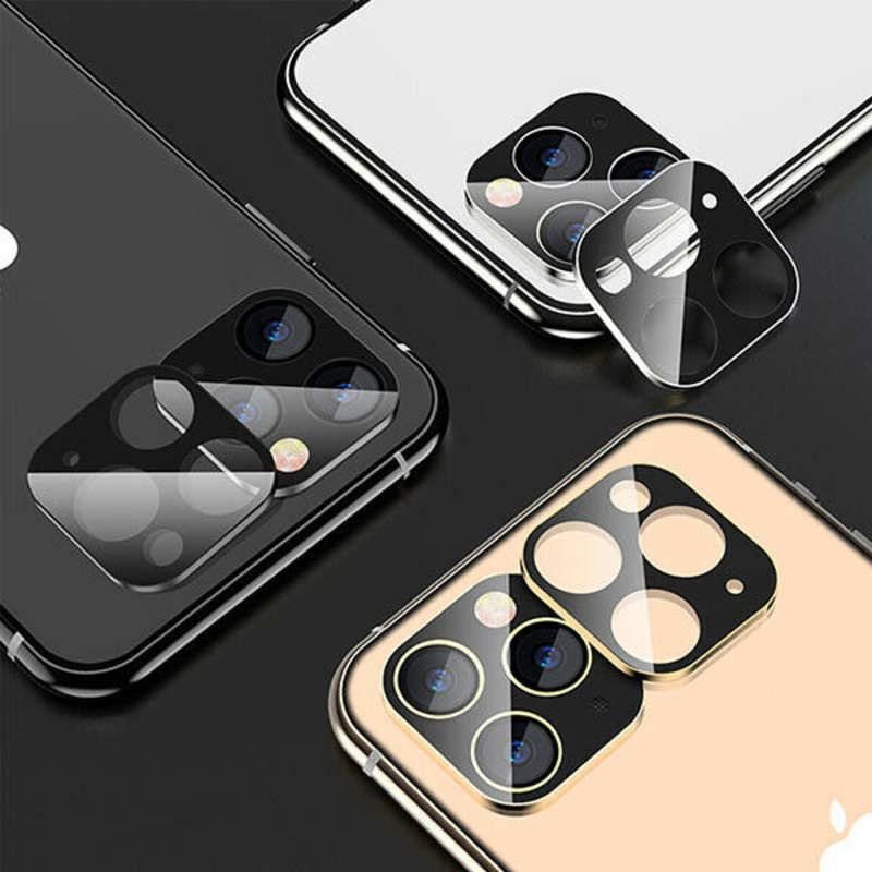 low price Camera Lens Protector For iPhone 11 Pro Max Tempered Glass Metal Full Cover - Silver