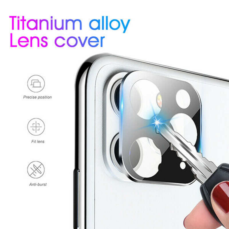 high quanlity Camera Lens Protector For iPhone 11 Pro Max Tempered Glass Metal Full Cover - Silver