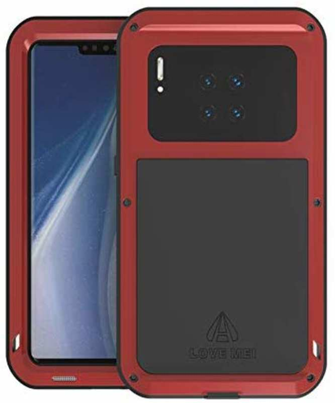 wholesale For Huawei Mate 30 Pro LOVE MEI Waterproof Aluminium Alloy Metal Case Cover - Red