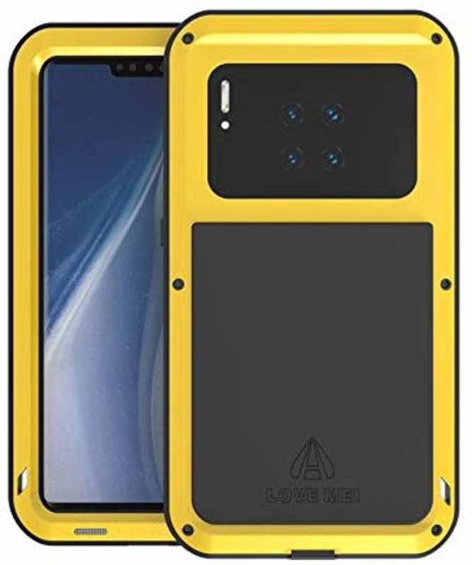 wholesale For Huawei Mate 30 Pro LOVE MEI Waterproof Aluminium Alloy Metal Case Cover - Yellow